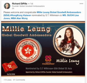 Millie Leung Global Goodwill Ambassador